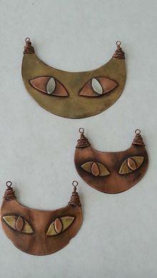 Brass copper silver cats