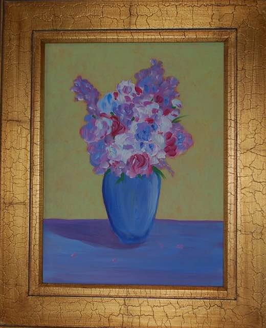 Loosey Juicy Fleurs 15, 16x20, acrylic on canvas board
