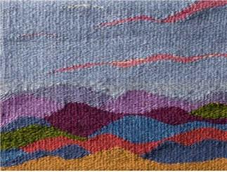 """Ridge,"" weaving"