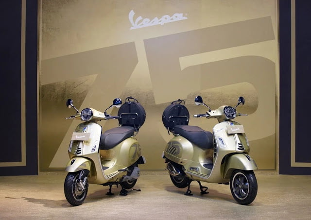 Vespa Limited Edition HUT-75 Dijual Sangat Terbatas. Harga Tembus Rp175 Juta