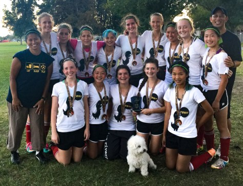 U15 Girls win Kick or Treat - with medals