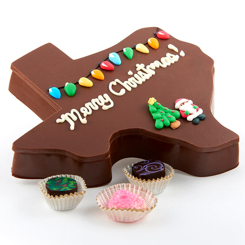Christmas Chocolate Texas Box Alamo City Chocolate Factory