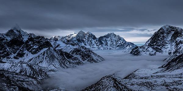 Kala Patthar, Everest Basecamp, Nepal - Panoamic Fine Art Print