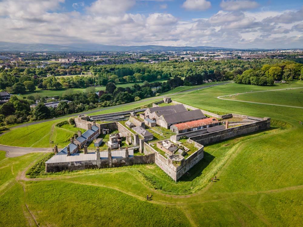 Aerial photo of Magazine fort in Phoenix Park - Dublin