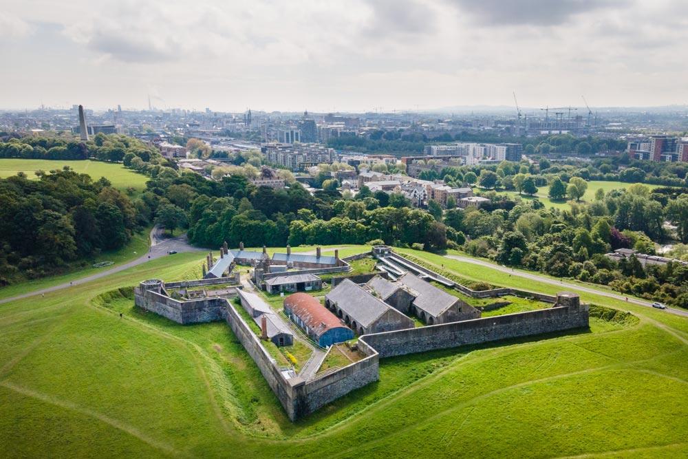 Drone photo of magazine fort in Phoenix Park - Dublin