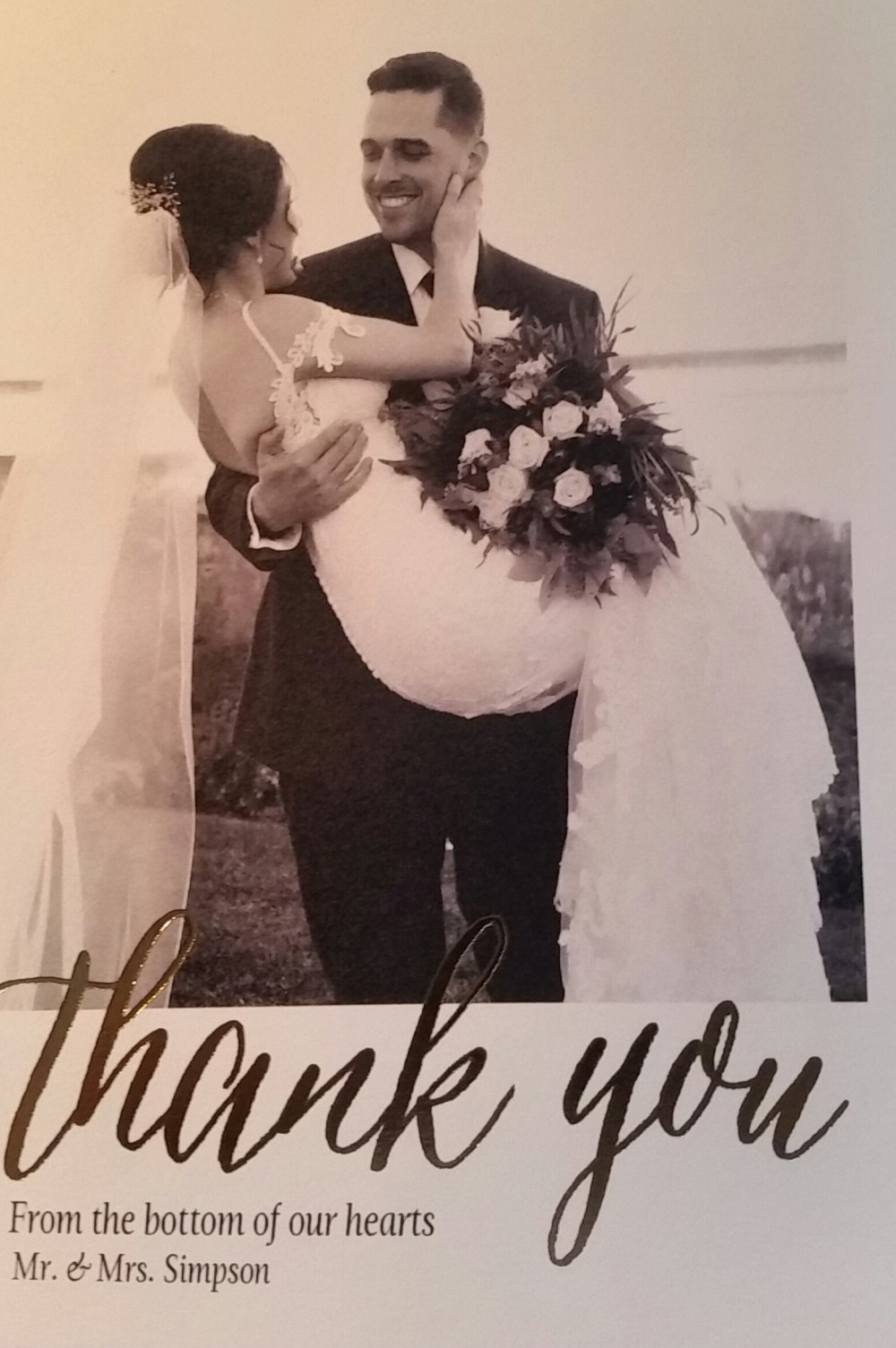 A Thank You Note to a Grateful Officiant!