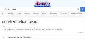 Google confirmation bias definition