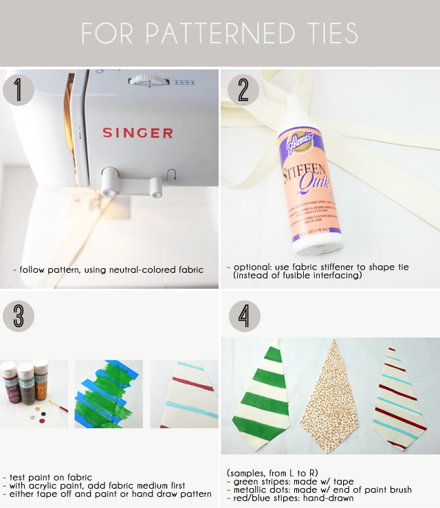 fabric patterned tie DIY