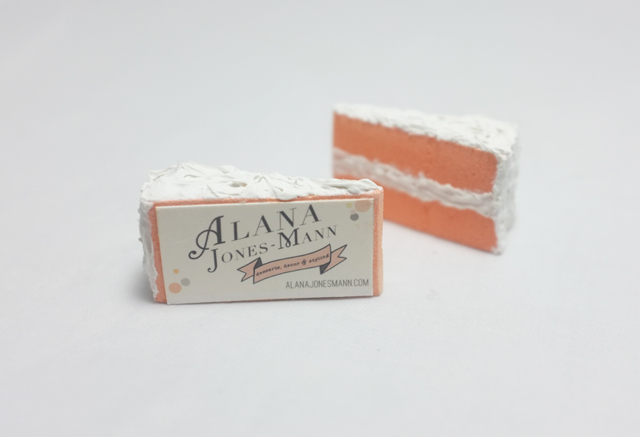 AJM cake business card