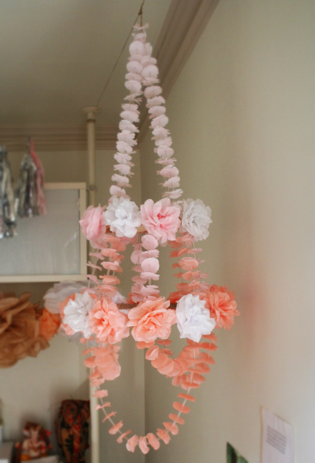 paper chandelier mobile