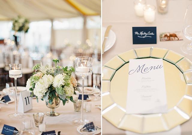 Auslander Wedding Menu and Table