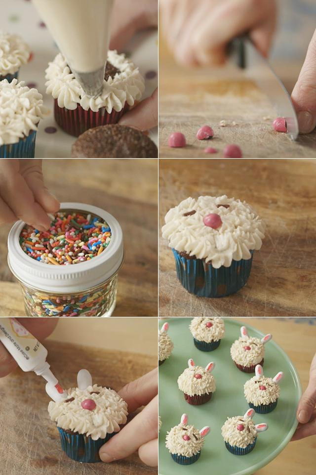 DIY Bunny Cupcakes Video