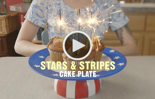 Cake Plate Video DIY