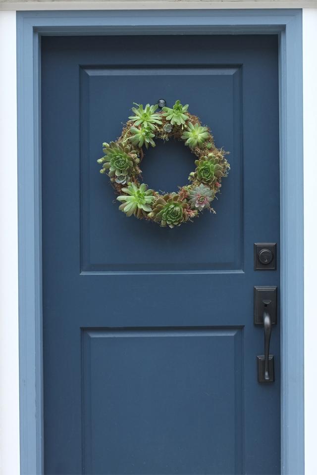 Succulent Wreath Front Door