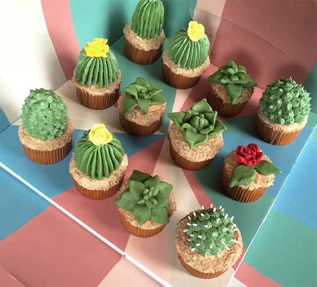 AJM cactus cupcakes