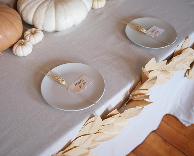 Leaf Garland on Table