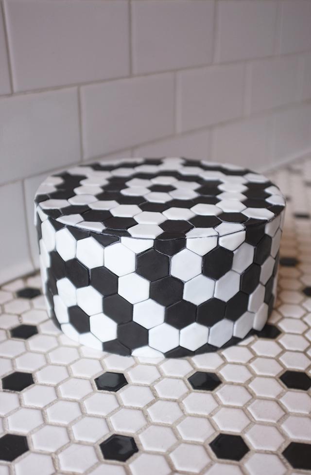 Alana Jones Mann Hexagon Tile Cake