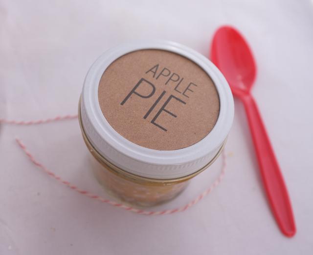 Labeled Apple Pie Jar
