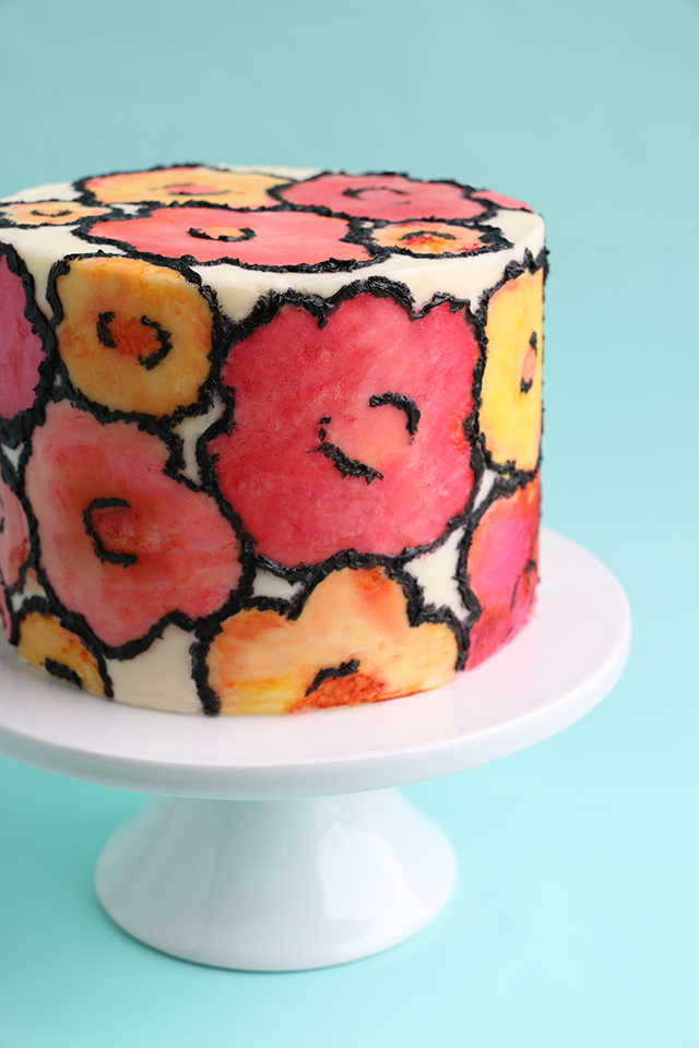 Painted Cake Details