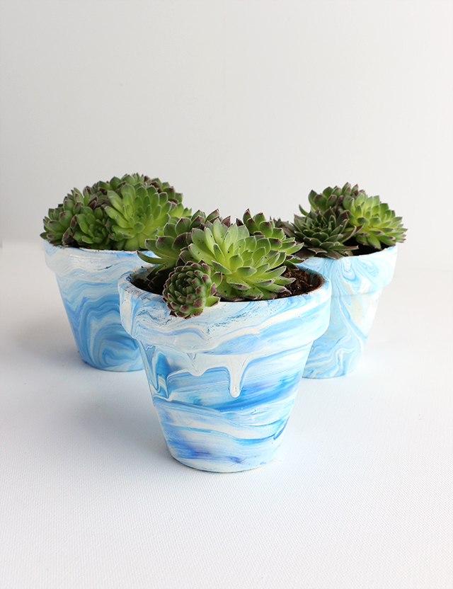 DIY Marbled Pots_1