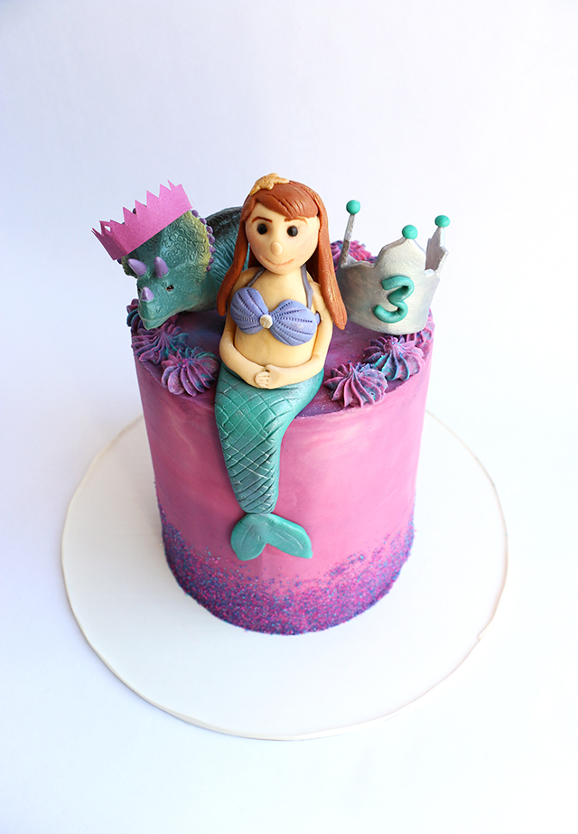 Mermaid Cake Detail