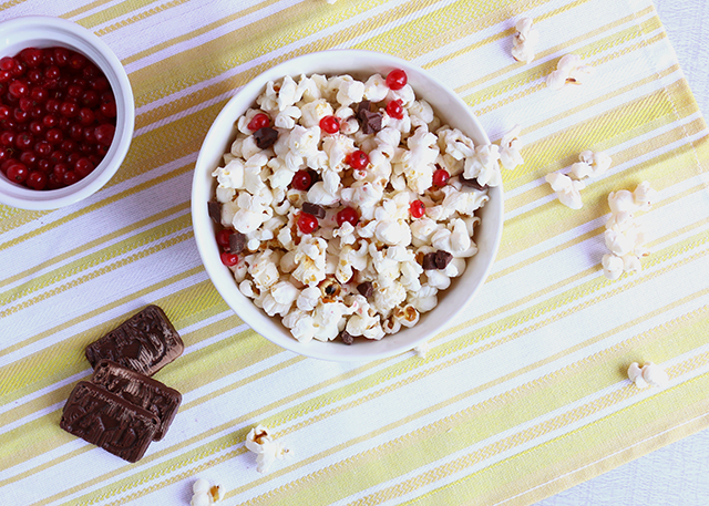 Chocolate Red Currant Popcorn