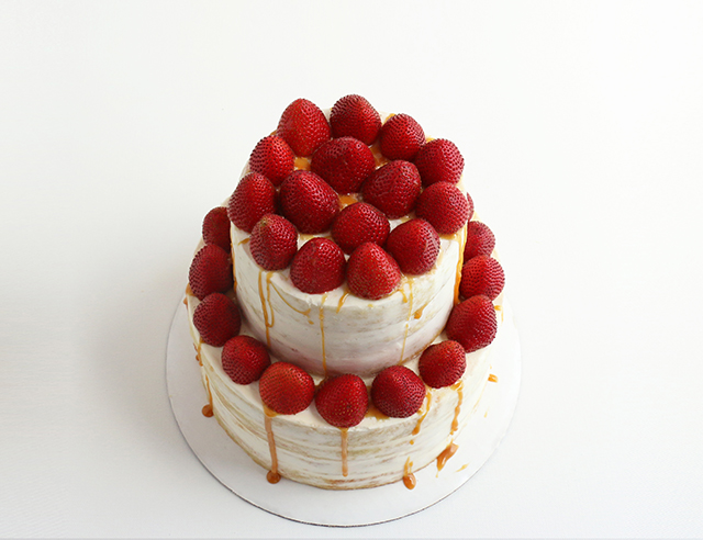 Strawberry Salted Caramel Naked Cake