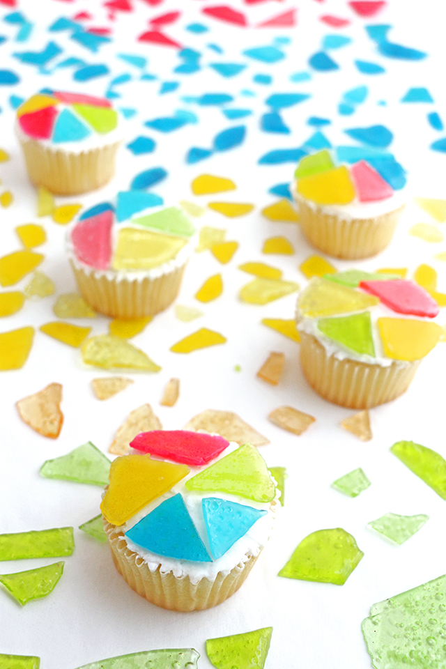Candy Glass Cupcakes