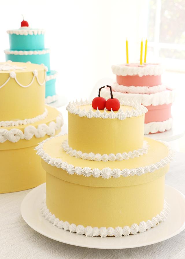 Retro Cherry Cake Gift Box