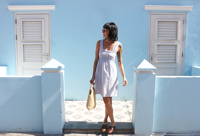 Blue Dress Blue Wall