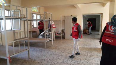 Photo of جمعية الهلال الأحمر تجهز مركز حجر صحي في صنعاء ( صور )