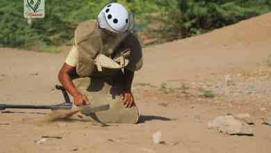 Photo of مسام ينتشل لغم أرضي مضاد للدروع من محيط مدرسة في مديرية الخوخة بالحديدة