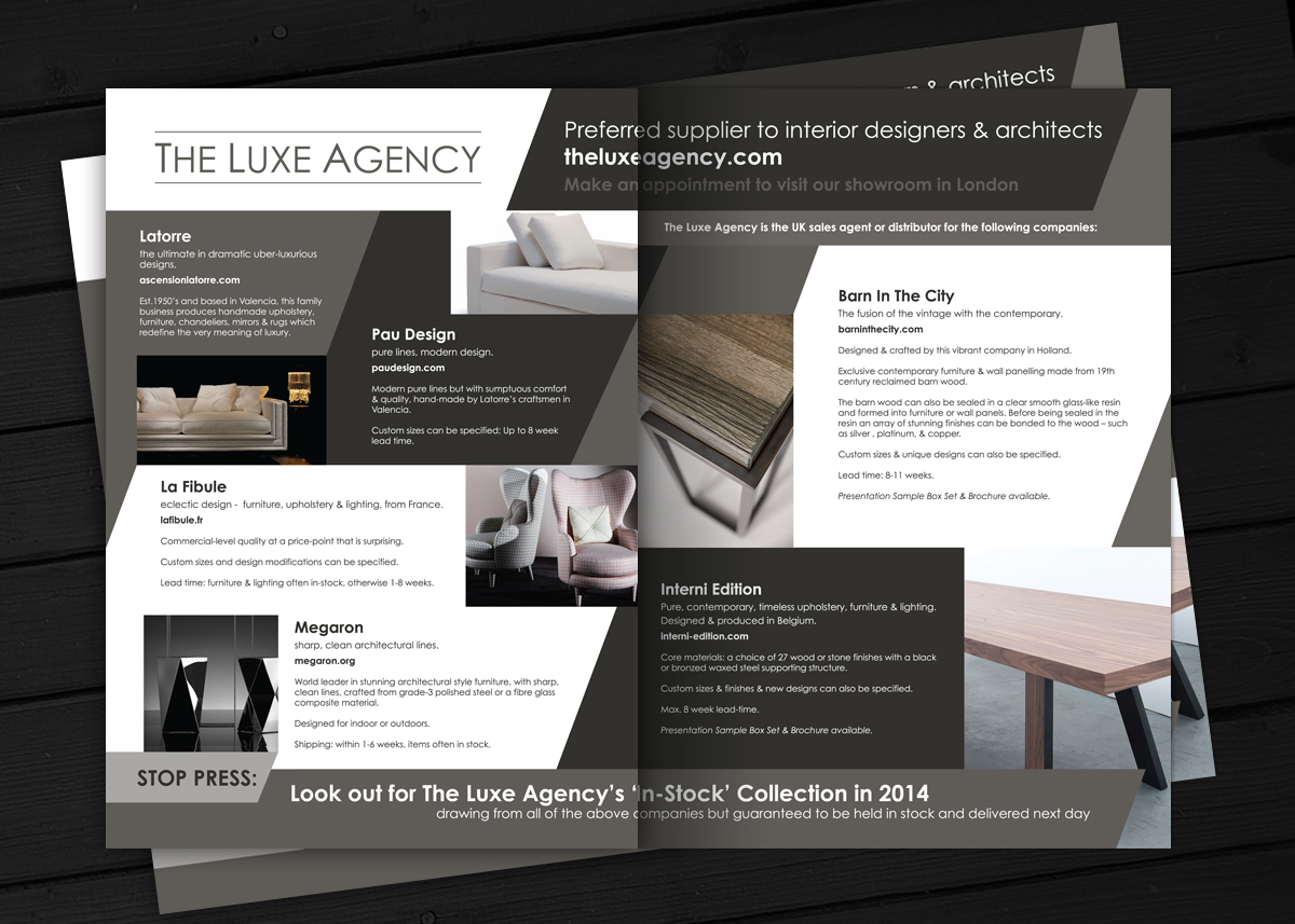 LUXE Brochure Design Alan Campbell Freelance Graphic