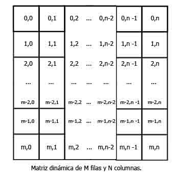 Figura con una matriz dinamica de n x m