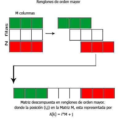 row major order imagen explicativa