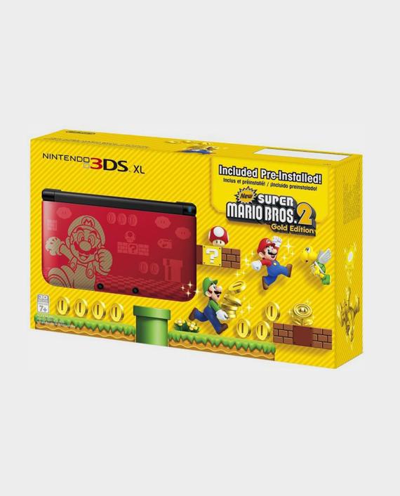 NINTENDO 3DSXL Gold Mario Bros 2 Bundle