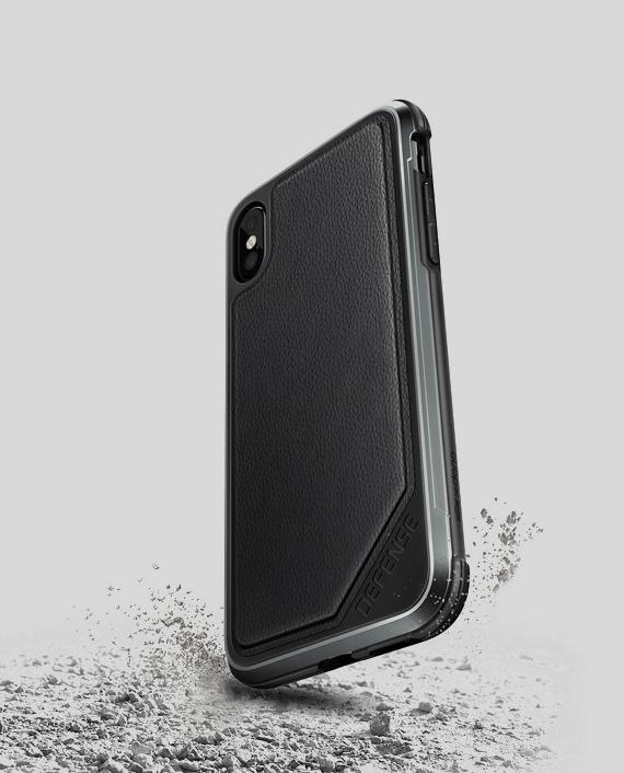 iPhone-X-Case-Defense-Lux-Black-Leather