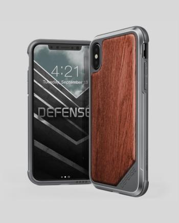 iPhone X Case Defense Lux Rose Wood