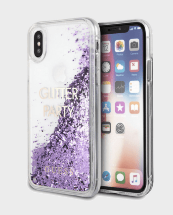 Genuine Guess Liquid Purple Glitter Case in Qatar and Doha