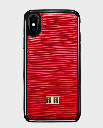 Gold Black iPhone X Case Unico Red in Qatar