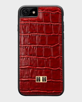 Gold Black iPhone 7 Croco Red in Qatar