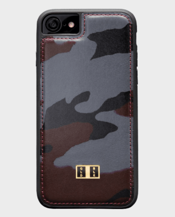 Gold Black iPhone 7 Leather Case Camouflage in Qatar