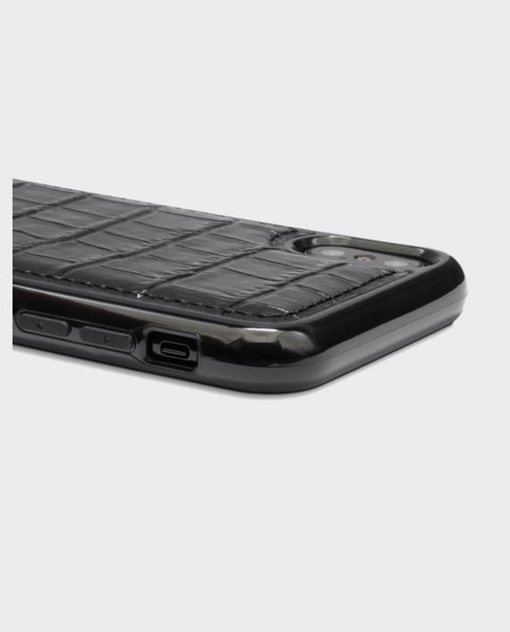 Gold Black iPhone X case Croco Black