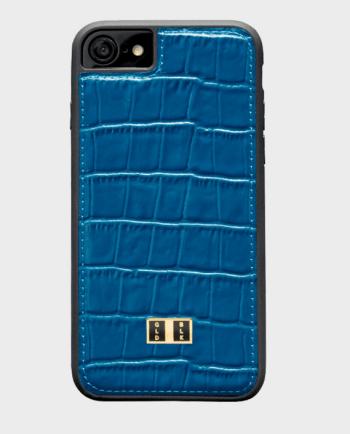Gold Black iPhone 7 Croco Blue in Qatar