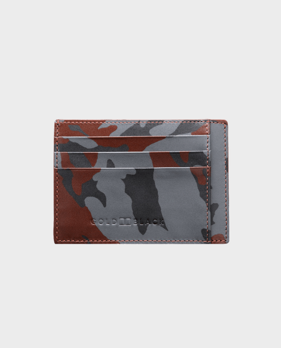 Gold Black Card Holder Bill Camouflage