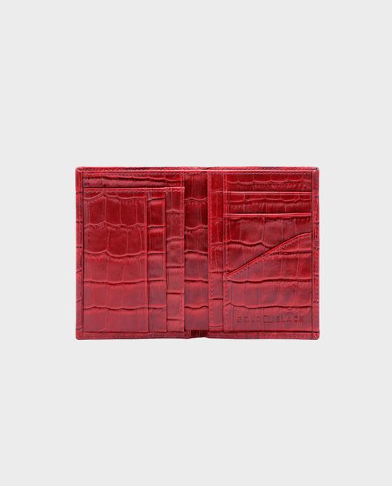 Goldblack Bifold Slim Wallet Croco Red in qatar