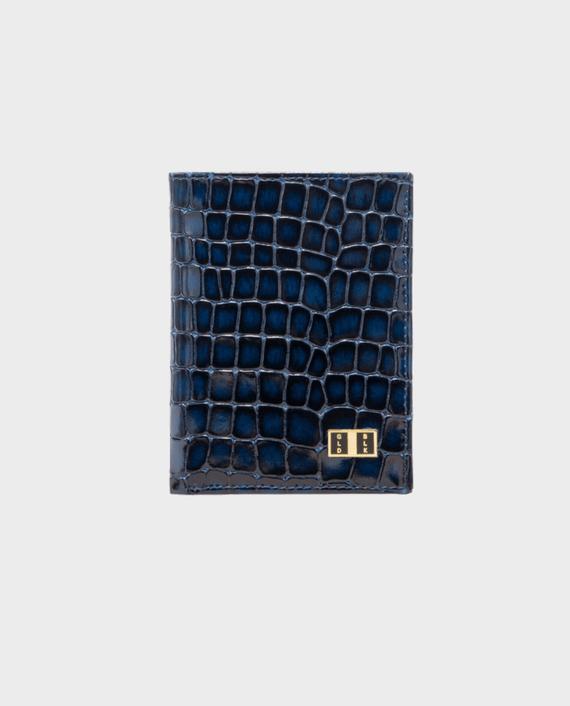 Goldblack Bifold Slim Wallet Milano Blue in Qatar