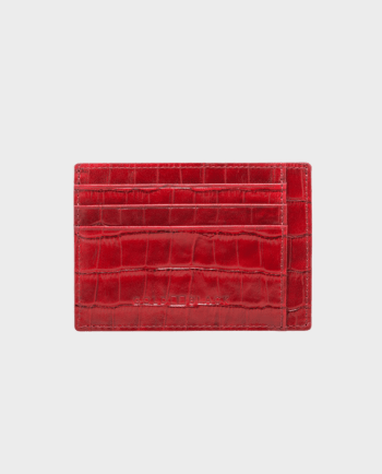 Gold Black Card Holder Bill Croco Red in Qatar