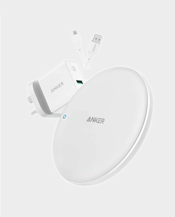 Anker PowerWave 7.5 Fast Wireless Charging Pad with QC3.0 Charger in Qatar