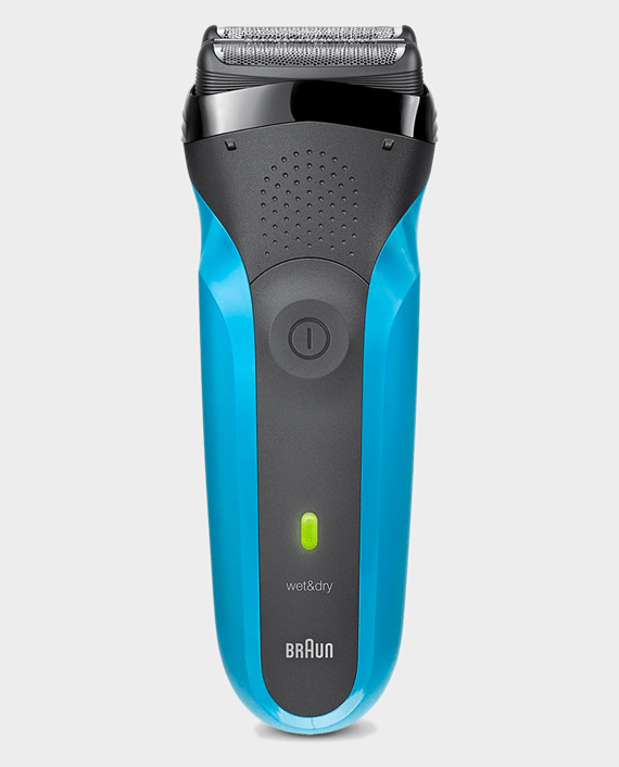 Braun Series 3 310s Wet & Dry Shaver with Protective Cap - Black-Blue in Qatar